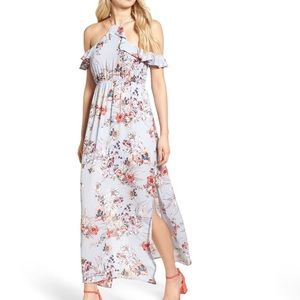 NWT One Clothing Floral Cold Shoulder Maxi Dress S